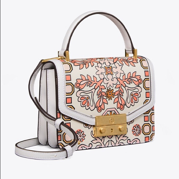 9f533e883b66 NWT Tory Burch Juliette Mini Satchel Printed Bag